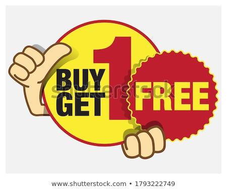 Get 50 Percent Red Vector Icon Design Stock photo © rizwanali3d