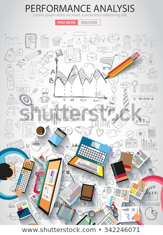 Performance Analysis concet with Doodle design style  Stock photo © DavidArts