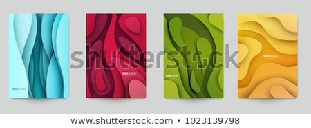 material design set of abstract paper shapes stock photo © cienpies