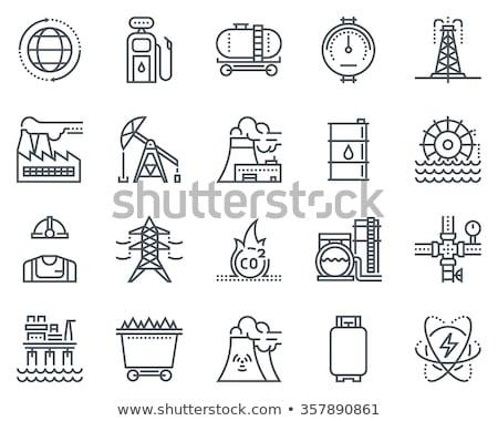 olie · kan · lijn · icon · vector · geïsoleerd - stockfoto © rastudio