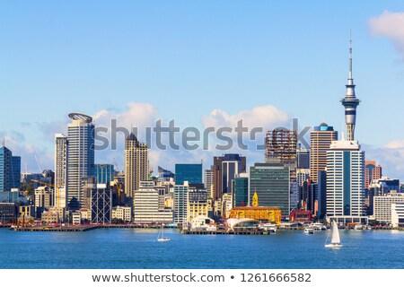 Cityscape · изображение · Skyline · Новая · Зеландия · воды · морем - Сток-фото © hofmeester