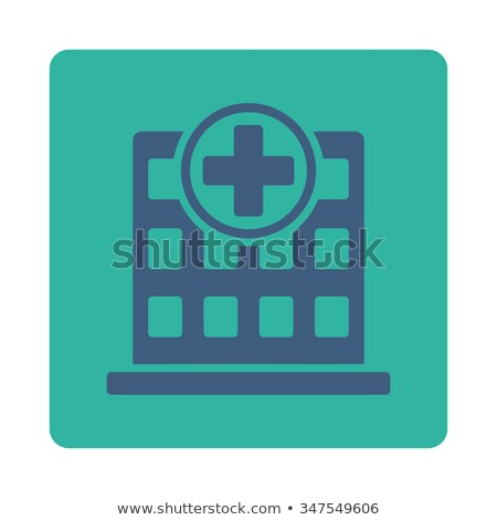home flat cobalt and cyan colors rounded button stock photo © ahasoft