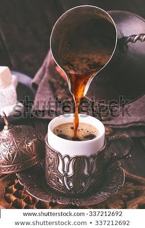 Fincan güçlü siyah türk kahve fincanı kahve Stok fotoğraf © ozgur