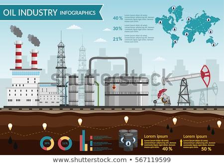 gas · raffinaderij · lijn · icon · vector · geïsoleerd - stockfoto © conceptcafe