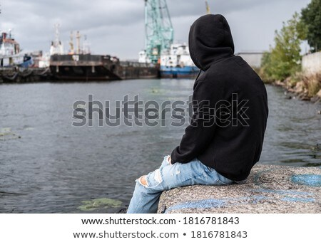 A boy near the bridge Stock photo © bluering