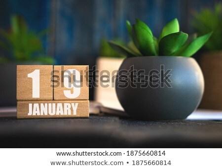 Cubes 19th January Stock photo © Oakozhan