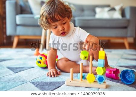 Kockák játék oktatási gyerekek puzzle fejlesztés Stock fotó © Olena