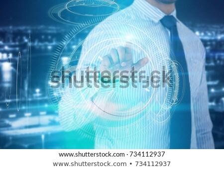Imprenditore futuristico digitale schermo bianco Foto d'archivio © wavebreak_media