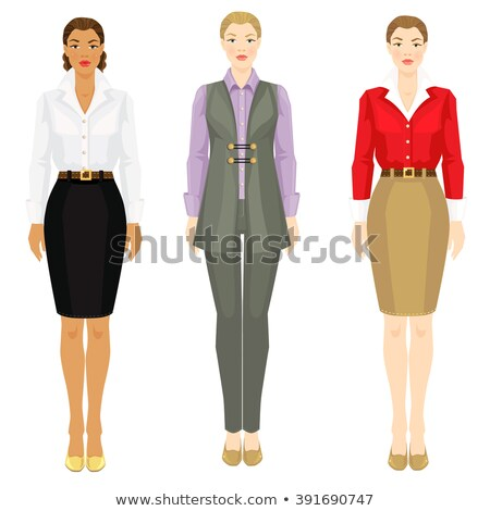 Model in Elegance Suit, Color Vector Illustration Stock photo © robuart