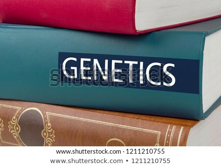 A book with the title Geneticss written on the spine Stock photo © Zerbor