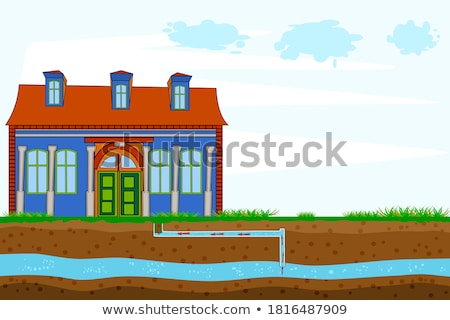 Schematic Window and Diagram Vector Illustration Stock photo © robuart