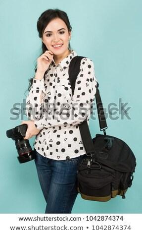 zwarty · aparat · cyfrowy · worek · tle · czarny · biały - zdjęcia stock © traimak