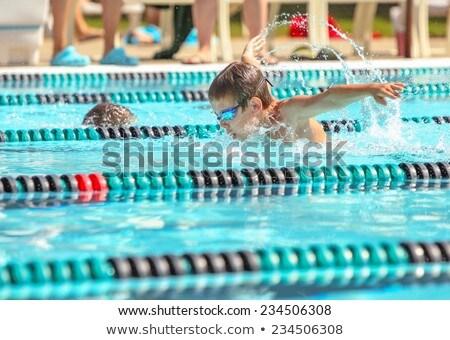 スイマー · 子供 · 少年 · 少女 · スイミング · 競争 - ストックフォト © colematt