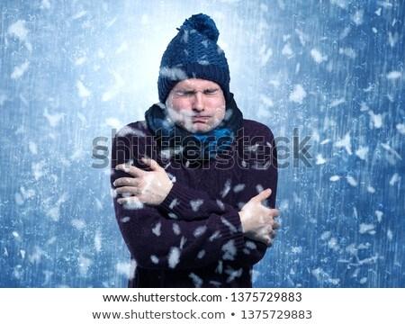 jóképű · fiú · fiatal · srác · férfi · tél · portré - stock fotó © ra2studio