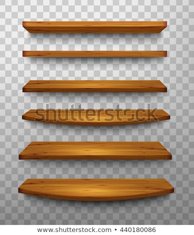 wooden shelf on transparent background Stock photo © romvo
