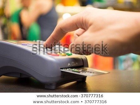 Man Buying Items from Store Purchasing Online Stock photo © robuart