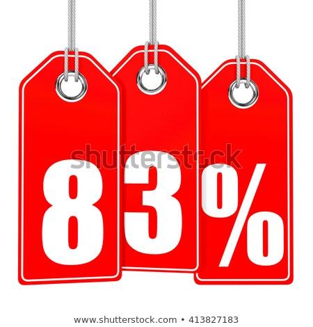 eighty three percent on white background. Isolated 3D illustrati Stock photo © ISerg