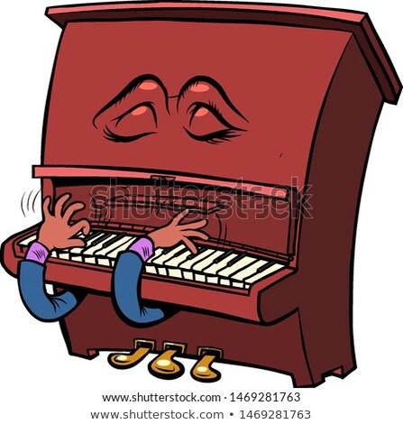 悲しい ロマンチックな 文字 感情 ピアノ 楽器 ストックフォト © rogistok