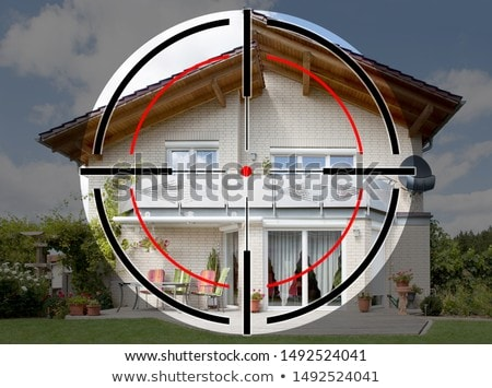 Shooting Range Target On Modern House Stock photo © AndreyPopov
