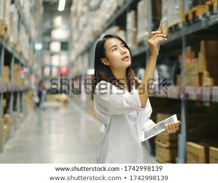 home design shop with employee clerk Stock photo © Lopolo