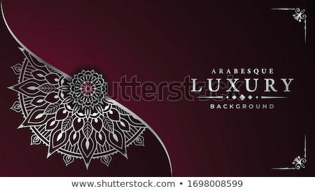 şablon mandala tasarımlar örnek çiçek arka plan Stok fotoğraf © bluering