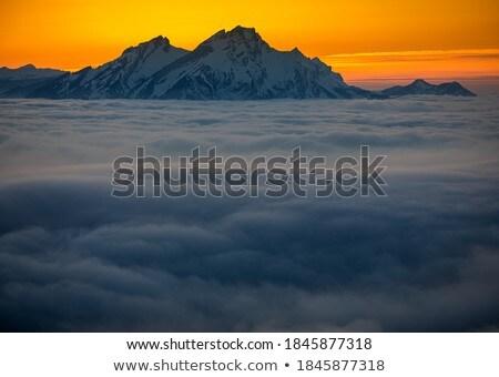 Cenário alto montanhas dente noite luz Foto stock © lightpoet