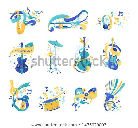Musicale concerto banner set Foto d'archivio © barsrsind
