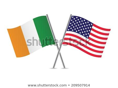 Európai szövetség amerikai zászlók fehér világ Stock fotó © butenkow