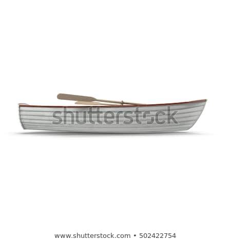 Vissersboot zijaanzicht geïsoleerd witte vissen commerciële Stockfoto © designer_things
