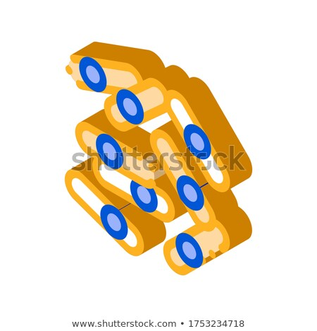 Microscopisch bacterie isometrische icon vector teken Stockfoto © pikepicture