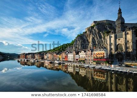 Vue pittoresque ville Belgique citadelle église Photo stock © dmitry_rukhlenko