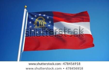 Vlag Georgië alle communie lagen Stockfoto © nazlisart