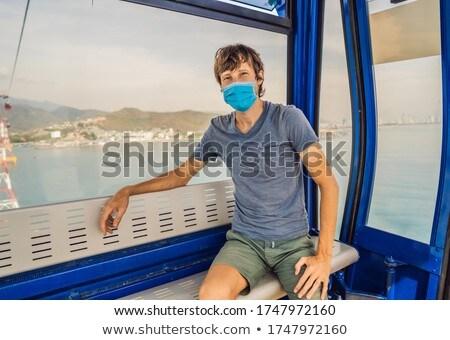 Homme hygiène masque visage câble Photo stock © galitskaya