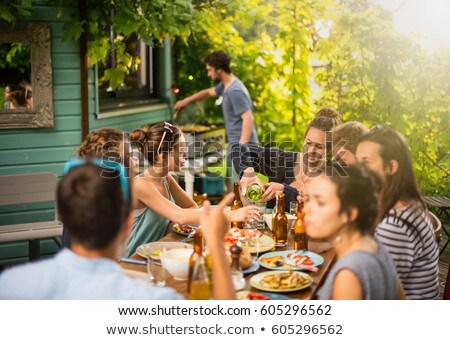 men having a drink on a terrace Stock photo © photography33