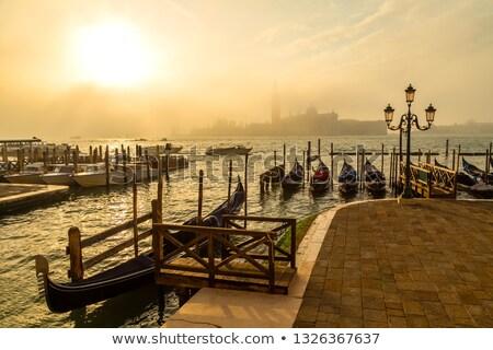 Сток-фото: закат · Венеция · Италия · изображение · здании · солнце