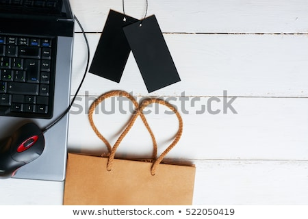 Rood · boodschappentas · online · winkelen - stockfoto © devon
