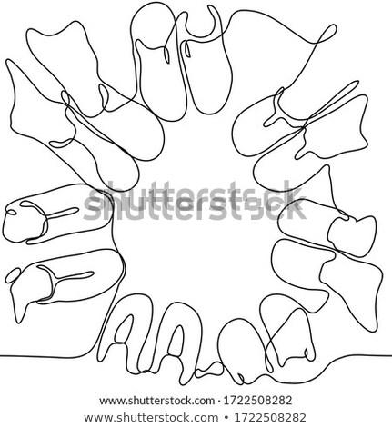 8606b39fd2f Seven black-outlined man feet vector illustration © Ganna ...