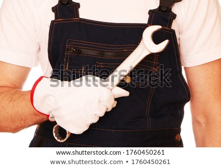 construction worker holding large pliers stock photo © photography33