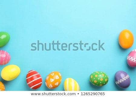 Niebieski Wielkanoc Easter Eggs puchar wiosną tle Zdjęcia stock © Pasiphae