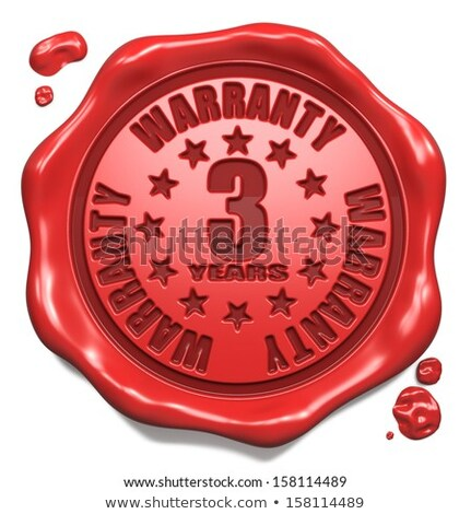 warranty 3 year   stamp on red wax seal stock photo © tashatuvango