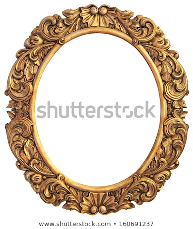 golden mirror frame cutout stock photo © suljo