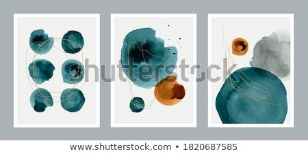 Pasztell poszter gradiens háló fal terv Stock fotó © adamson