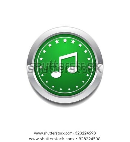muzyki · Uwaga · muzyki · zauważa · neon · zielone - zdjęcia stock © rizwanali3d