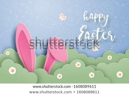 Kellemes húsvétot tavasz húsvét textúra fa fal Stock fotó © Sandralise