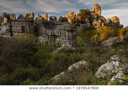 Impressive karst landscape in Spain Stock photo © Hofmeester