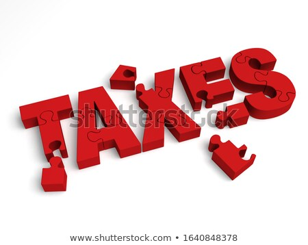 DueD - Text on Red Puzzles. Stock photo © tashatuvango