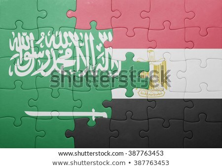 Stock photo: South Africa and Saudi Arabia Flags in puzzle