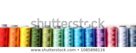 Kék fonál cséve izolált fehér ipar Stock fotó © tetkoren