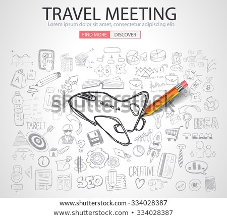 travel for business concept with doodle design style stock photo © davidarts