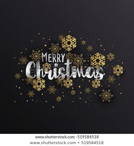 Gouden sneeuwvlok donkere textuur abstract sneeuw Stockfoto © fresh_5265954